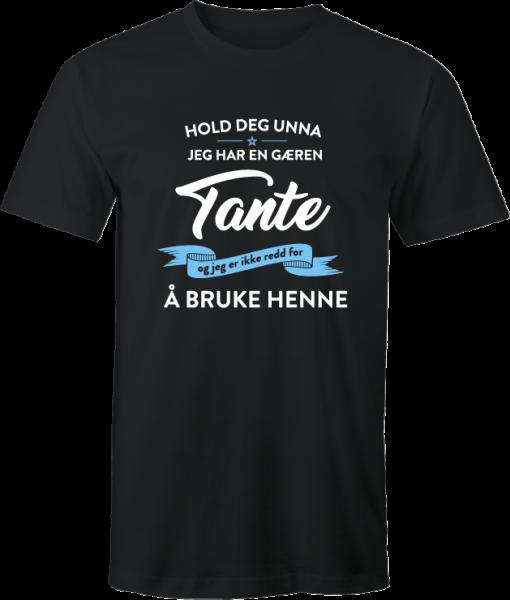 T skjorte Tante loading uniketrykk.no nettbutikk